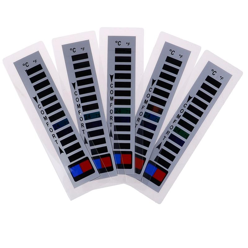 Один или 5 шт. торговая марка одежды термометр жидкий кристалл пуховик лыжные костюмы бытовой термометр теплая одежда