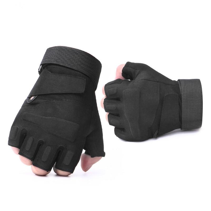 Guantes militares de medio dedo tácticos sin dedos para hombres, con protección antideslizante para disparar en bicicleta Airsoft, rekawiczki taktyczne