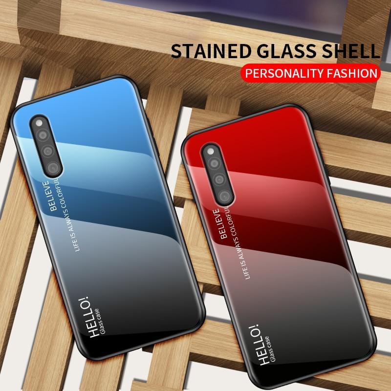 OUDINI para Samsung Galaxy A41 Funda de cristal degradado para Samsung A41 funda