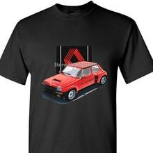 Брендовая Хлопковая мужская одежда мужская приталенная футболка Renault 5 Turbo Ретро ралли футболка с рисунком «гонщик» Wrc пальто одежда Топы