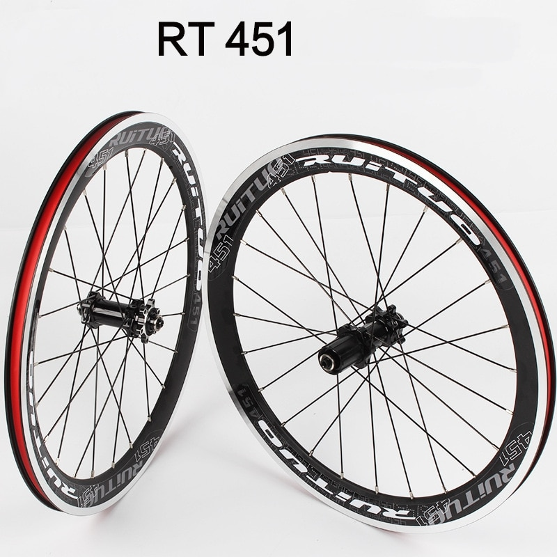 RT XL 451 BMX Ultra Light Broken Straight Pull Wheel Set Front 2 Rear 4 Bearing Hub Wheelset Disc Brake Bicycle Parts