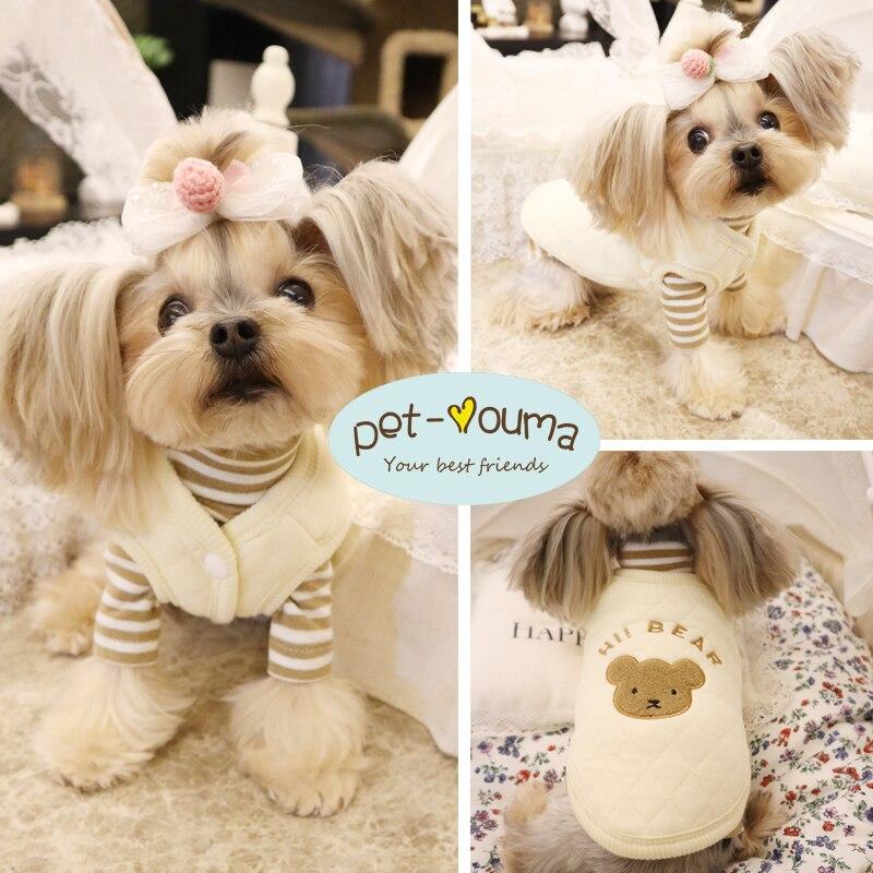 Colete para Animais de Estimação Leite Urso Base Terno Cão Teddy York Verão Gato Bichon Jiafei Roupas Gás