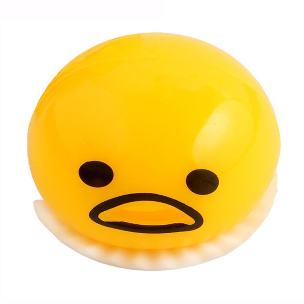 De dibujos animados lindo huevo mano pizca ansiedad liberación amarillo parodia de descompresión de juguete de más de 6 años