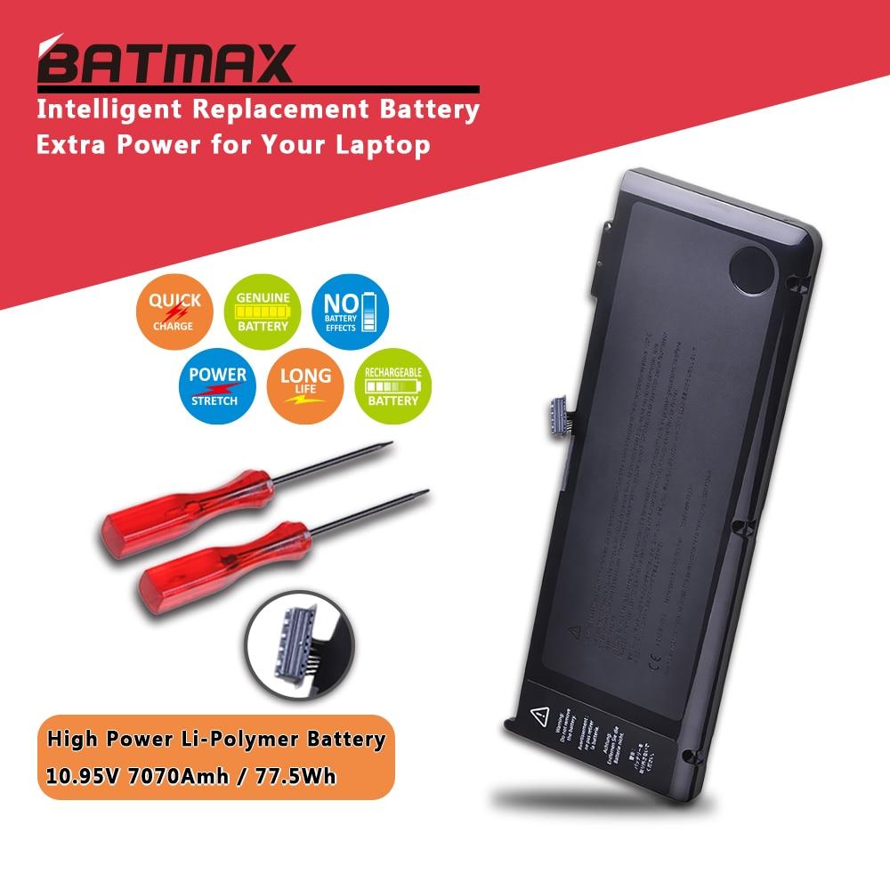 Batmax 7070mAh A1382 batería de ordenador portátil para MacBook Pro 15 pulgadas A1286 (sólo para principios de 2011, finales de 2011, mediados de 2012), MC721LL/A MC723LL