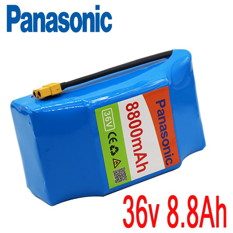 100% New Panasonic 10s2P 36V  Battery 8800mAh 8.8Ah Single Cycle Voltage Hoverboard Battery