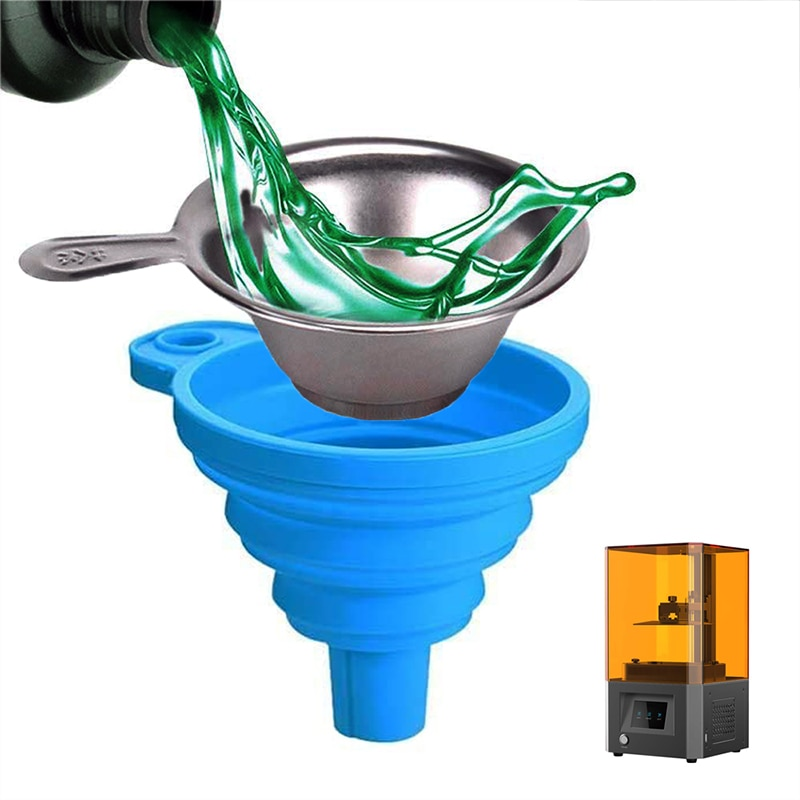 1SET High Quality Metal Uv Resin Filter Cup+Silicon Funnel Disposable For ANYCUBIC Photon SLA DLP 3D Printer Parts