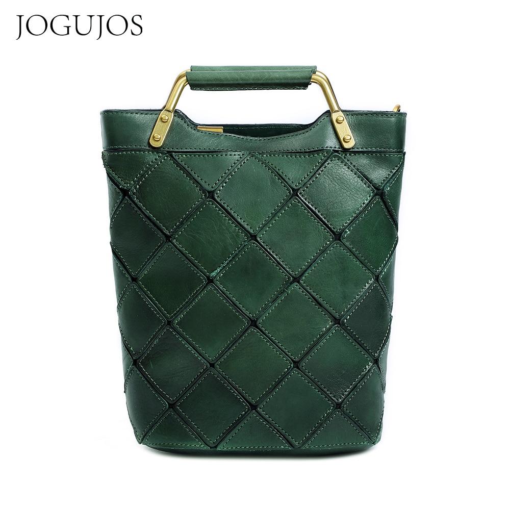 JOGUJOS-حقيبة يد هندسية للنساء ، حقيبة يد فاخرة ذات سعة كبيرة ، حقيبة ساعي جلدية أصلية ، 2021