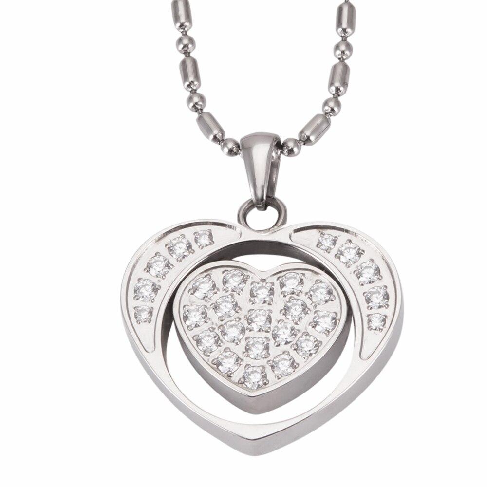 Collar con colgante de energía en forma de corazón con piedra de Lava para mujer, regalo de acero inoxidable para el Día de San Valentín