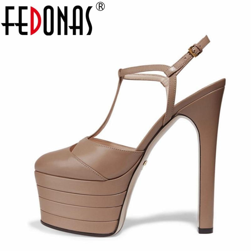 FEDONAS مثير عالية الكعب النساء مضخات مثير منصات أحذية حفلات الزفاف امرأة الكعوب حفلة موسيقية مضخات جودة النساء أحذية الصنادل