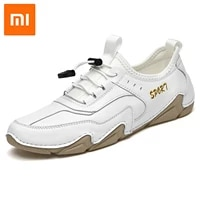 xiaomi men shoes genuine leather casual shoes sneakers spring autumn trainers simple driving shoes big size handmade men flats