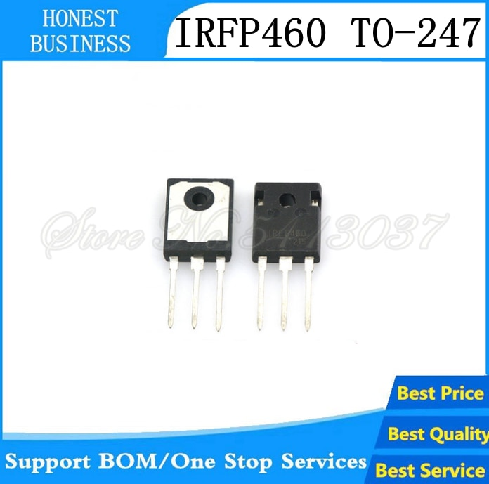 Novo 10 pces-50 pces irfp460 irfp460pbf irfp460a irfp460lc n-channel potência mosfet transistor to-247