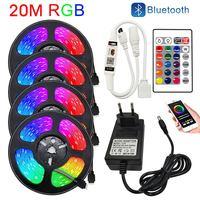 Светодиодные ленты с Wi-Fi 20 м 15 м светильники Bluetooth для комнаты 5 м 10 м 12 В RGB Диодная лента гибкая лента лампа