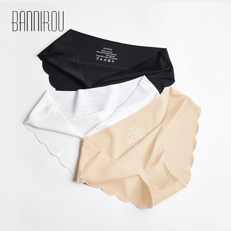 3 шт., женские бесшовные трусы BANNIROU   Женская одежда   АлиЭкспресс