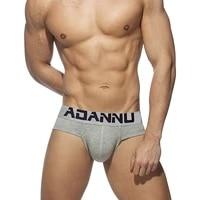 adannu men briefs underpants cotton sexy convex u pouch cuecas mens brief slip male panties plus size comfortable underwear man