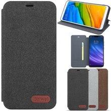 Flip Canvas Telefoon Case Voor Xiaomi Mi 10 5G 10 Pro Mi A3 Lite Cc9e Cc9 Cc 9 Lite 9SE 8 9 Se Pro 5G A1 A2 6 5x 6x Case Back Cover