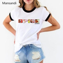 Cool épice filles T-Shirt femmes vogue T-Shirt Maiden hauts lettres imprimer graphique T-Shirt femme streetwear 90s tumblr vêtements