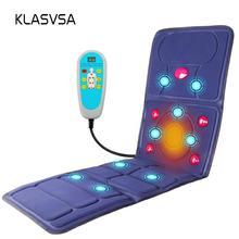 Klasvsa Электрический Вибратор массажер матрас дальнего инфракрасного отопления терапии шеи, массаж спины отдыха кровать vibrador здравоохранения