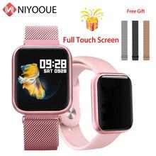 P80 akıllı saat Bilezik Ile Kan Basıncı nabız monitörü Pedometre Spor Izci Bandı Smartwatch Android Için Huawei IOS