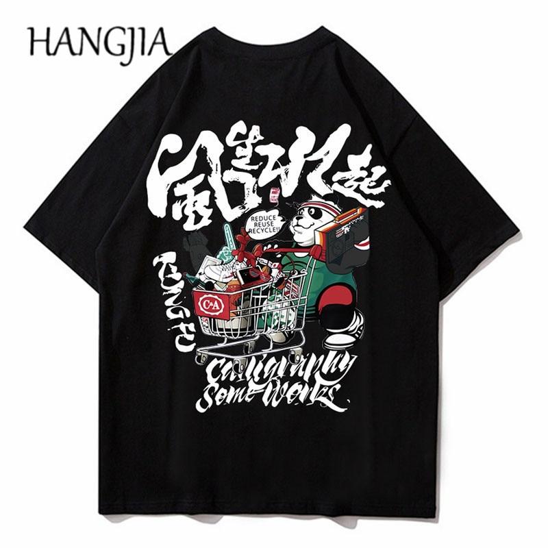 Camiseta de manga curta dos homens das camisetas dos desenhos animados do hip hop do verão 2020