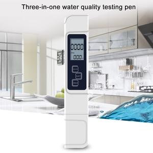 3 in 1 Household Water Quality Meter Tester Pen Multifunctional Water Level Tester Temperature Digital LCD Water Detector