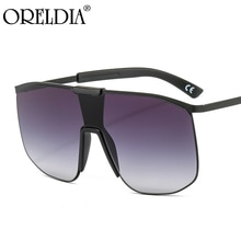 New Fashion Luxury Brand Design Oversized Square Sunglasses Men And Women Retro Flat Top One Piece L