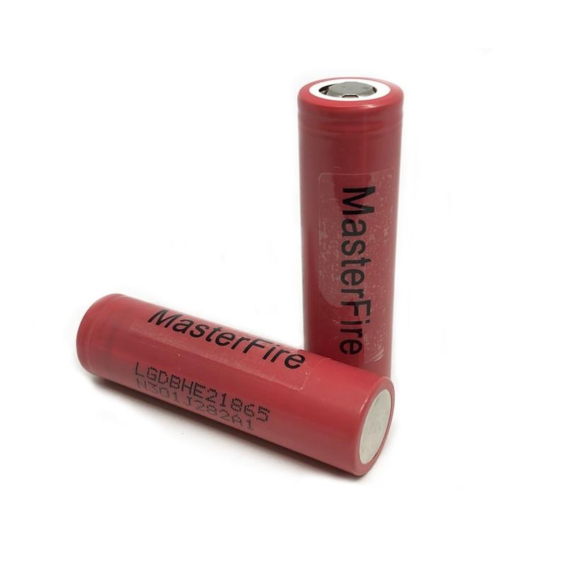 MasterFire 2 unids/lote genuino LG ICR18650HE2 2500mah batería de litio 18650 HE2 baterías de iones de litio recargables 30A para cigarrillos electrónicos