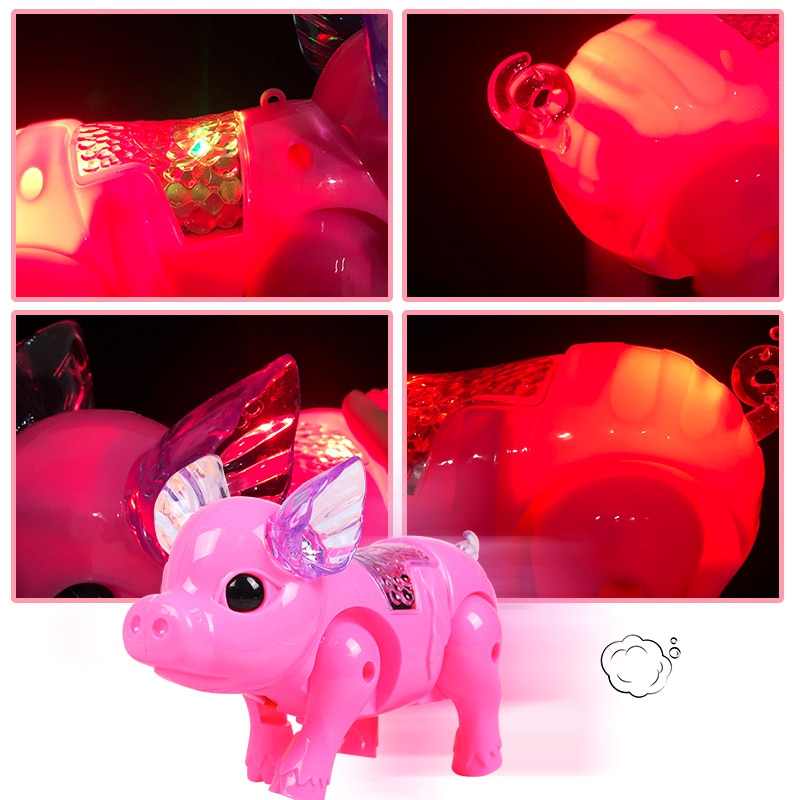 Flashing Walking Pig Toys Boys Funny Musical Pig Electronic Pets Toy Children Interactive Gadgets El