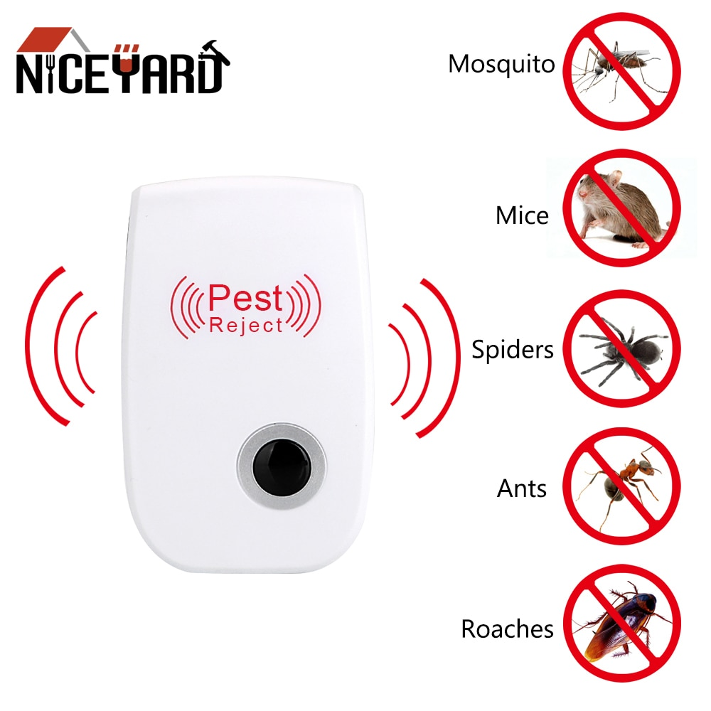 1/2 Pcs Electronic Mosquito Repellent Ultrasonic Pest Repeller Indoor Rodent Cockroach Mosquito Insect Killer EU/US Plug