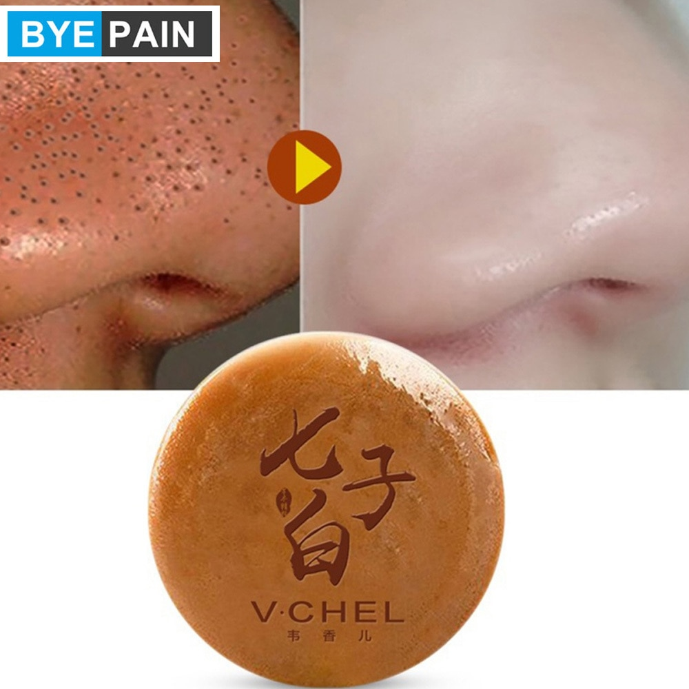 1Pcs BYEPAIN Moisturizing Horse Oil Handmade Soap Anti-mites Shrinking Pores Soap Lasting Oil-control Skin Care
