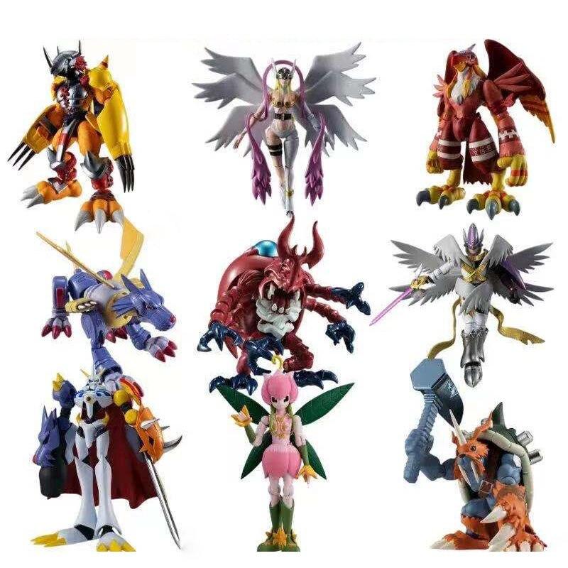 10 نمط Shokugan Digimon الشكل شودو 8 سنتيمتر الحرب جريمون Omegamon Lilimon Zudomon بك جمع عمل أنيمي الشكل لعب للأطفال