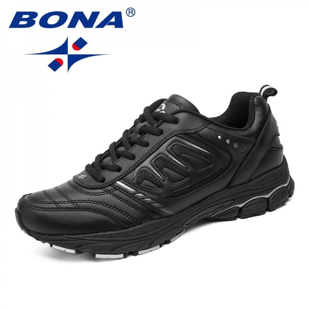 بونا نمط جديد الرجال احذية الجري في الهواء الطلق الركض الرحلات أحذية رياضية الدانتيل يصل أحذية رياضية خفيفة مريحة لينة شحن مجاني