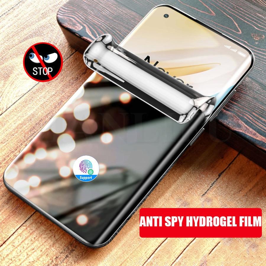 3D Gebogen Privacy Hydrogel Film Voor Oneplus 7 7T 8 Pro Anti-Peep Screen Protector Op Oneplus Nord 7 5 6T Anti Spy Film Niet Glas