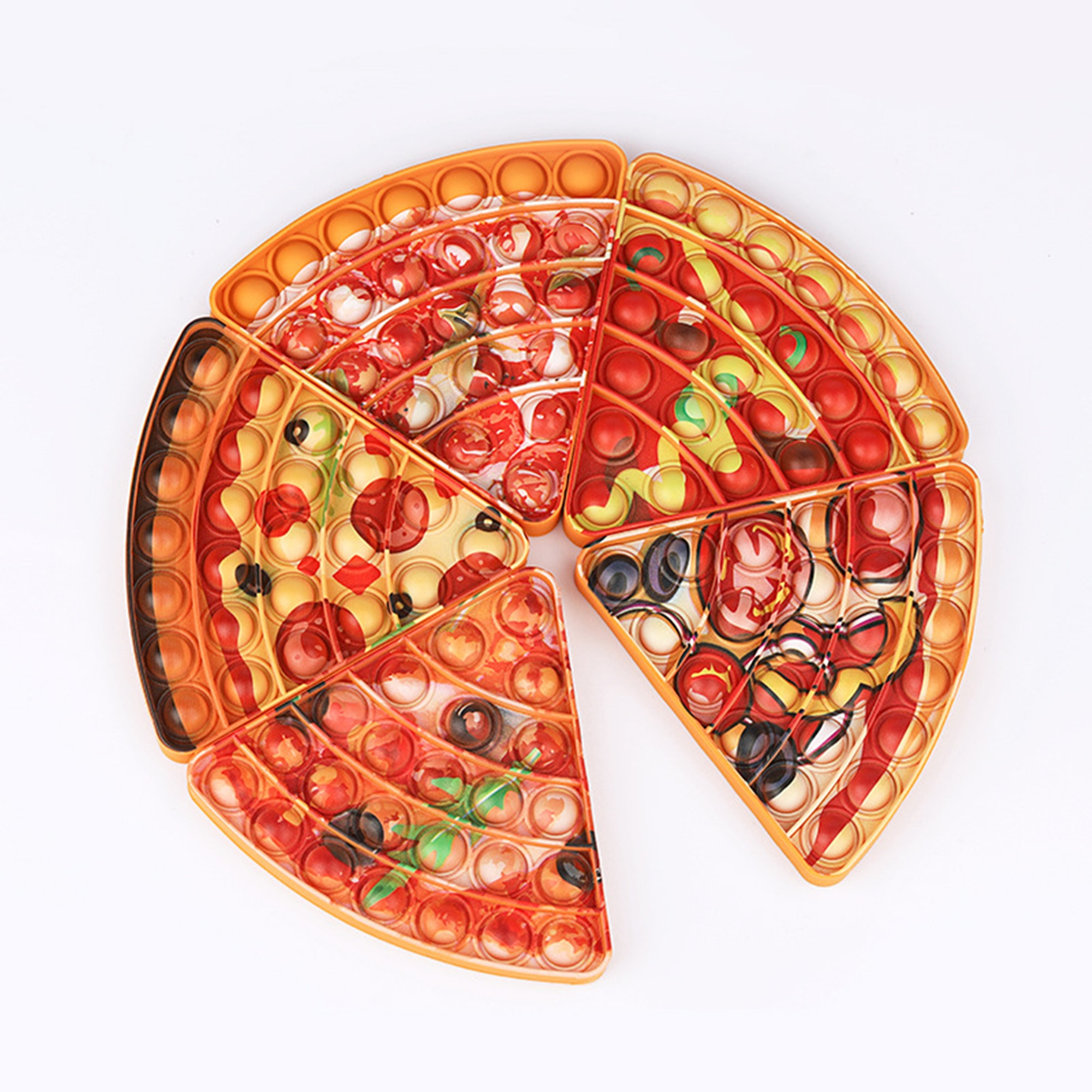 Emulation Food Pizza Push Bubble Fidget Toys Adult Stress Relief Squeeze Toy Antistress Soft Squishy