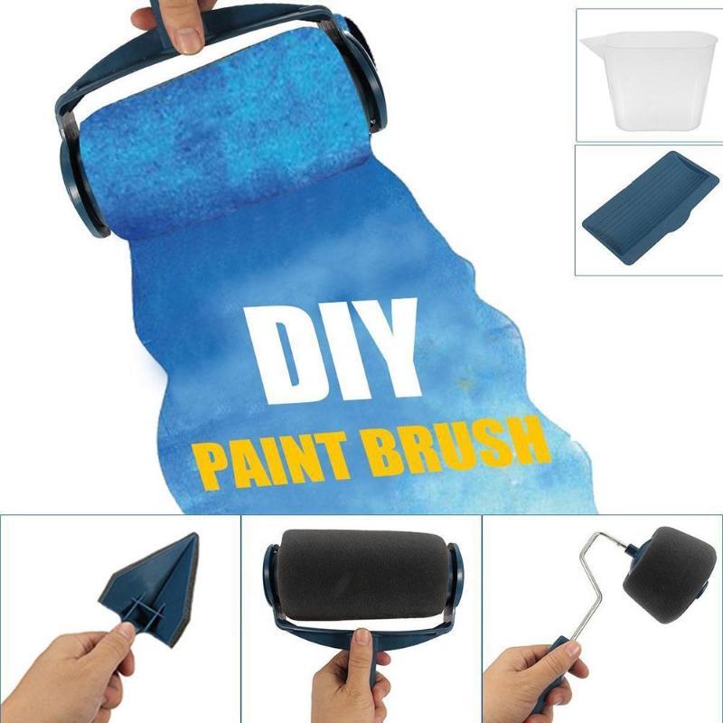 8 Uds pintura rodillo de corredor cepillo herramienta mango flocado bordeadora Oficina Pared de habitación pintura casa herramienta de juego de pinceles de pintura Dropship
