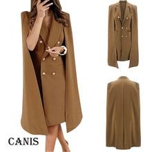 Femmes solide marron double boutonnage costume veste concepteur bureau dames blazer poches vêtements de travail hauts