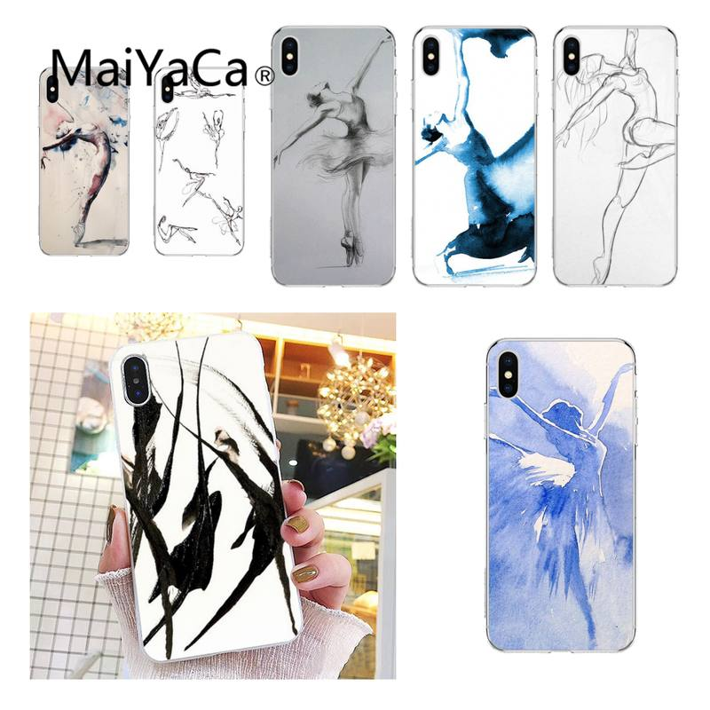 MaiYaCa Some dancer sketches Phone Case shell for iPhone 5S 8 7 6 6S Plus X XS MAX 5 SE XR 12 11 pro promax fundas