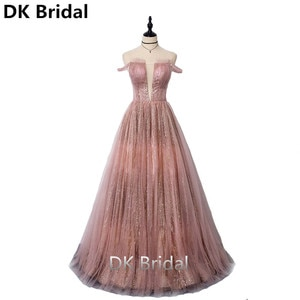 2019 New Arrival Shiny Sequined Evening Dresses Deep V-Neck Sleeveless Simple Evening Gowns Long Party Dresses robe de soiree