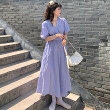 Clothing Temperament Skirt Lady Super Fairy Mori Long Female Summer A- line Dress First Love Small M