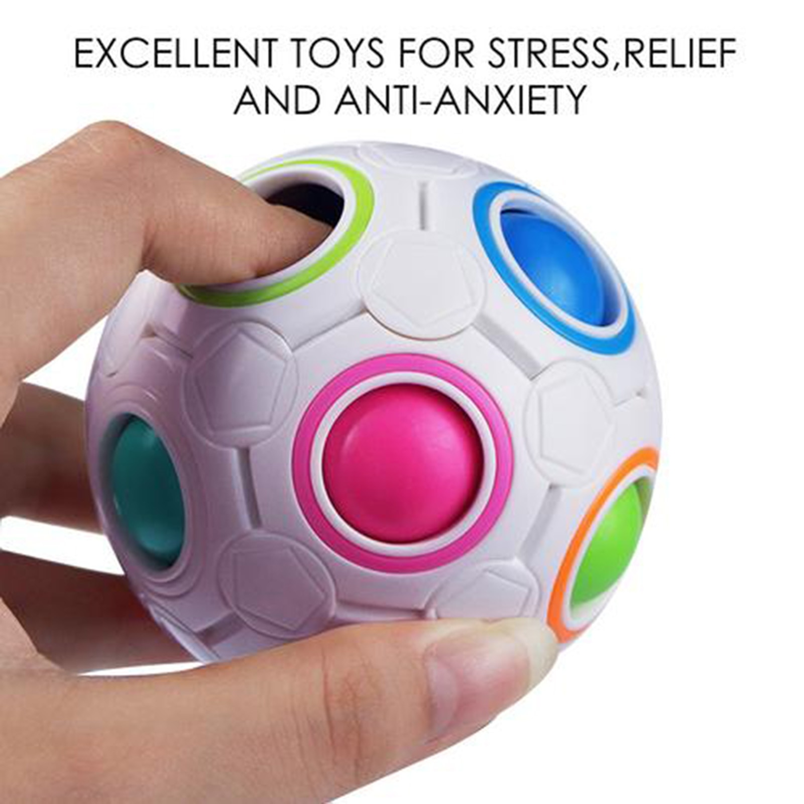 NEW Sensory Fidget Toys Pack Stress Relief Hand Toy for Kids Adults Calming queeze Bean Keychain Bubble Push Pop Mat 23 IN 1 Set enlarge
