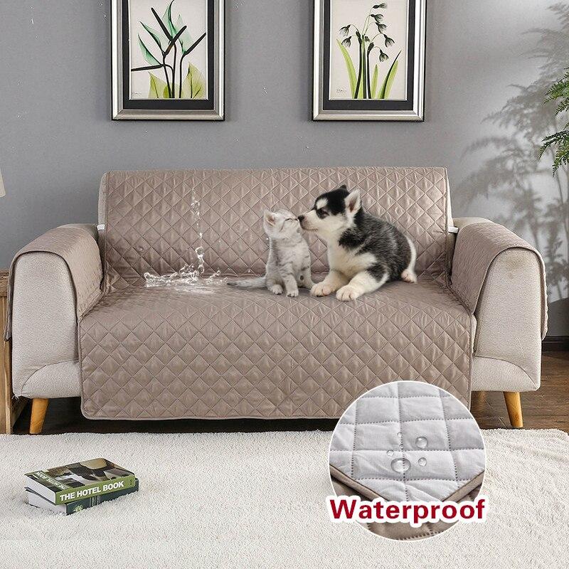 Sofá sofá capa removível sofá protetor capa anti-skid sujeira-prova pet cão processo de gravação cadeira esteira 1/2/3 assentos