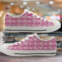 ELVISWORDS mode rose chaussures basses teckel chien impression toile baskets pour femmes chaussures vulcanisées légères chaussures de marche