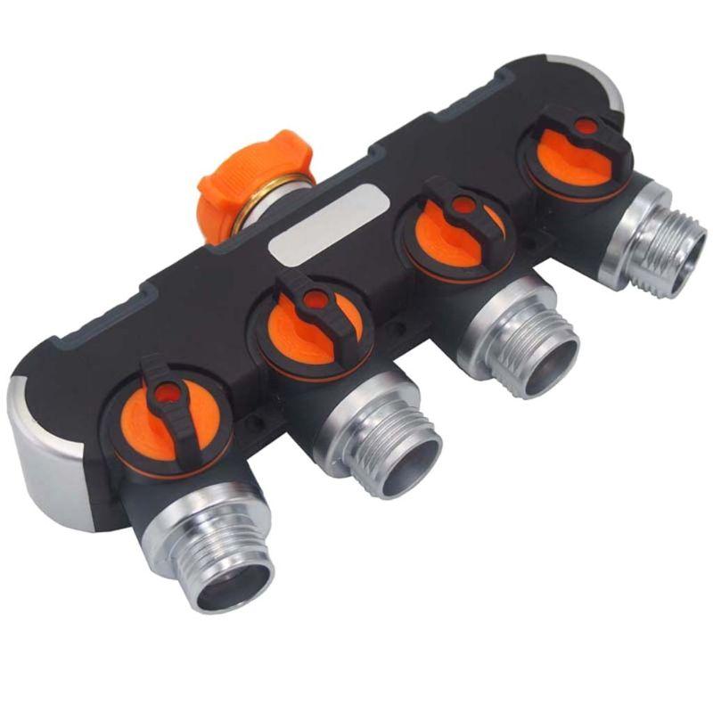 Garden Y Shape Water Pipe 4 Way Adapter Tap Hose Valve Splitter Faucet Connector 425D