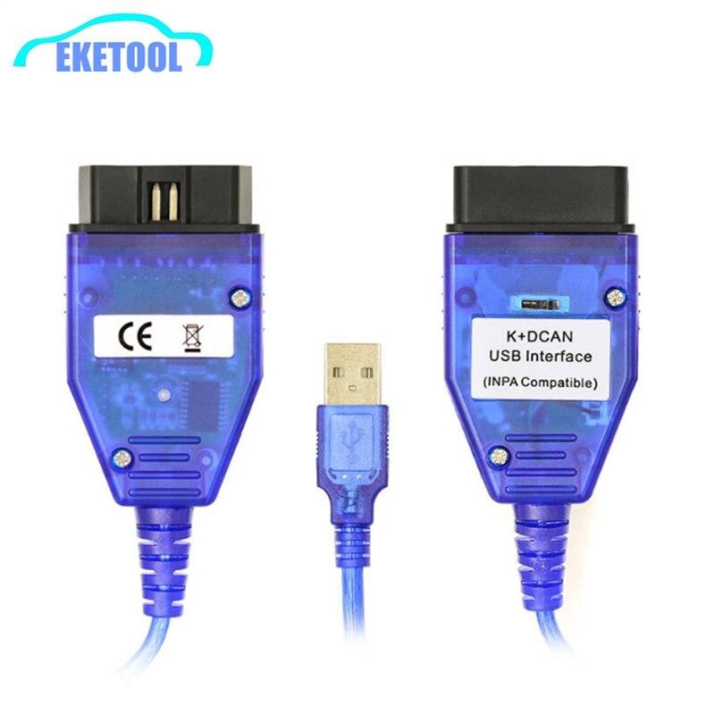 50 unids/lote el INPA DCAN Auto escáner de diagnóstico de coche FT232RL con interruptor para BMW INPA K DCAN Ediabas/INPA K + puede Compatible con USB