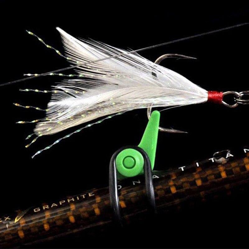 10pcs פלסטיק דיג וו מאובטח Keeper מחזיק אביזרי הפיתוי לנענע ווי בטוח לשמור עבור חכת דיג כלי פיתיון ליהוק