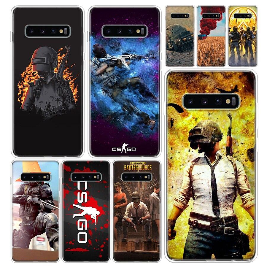 Counter Strike PUBG cubierta de la caja del teléfono para Samsung Galaxy A51 A71 A50 A70 A10 A20E A30 A40 A90 M30S A01 A6 A7 A8 A9 más Coque