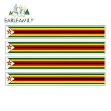 Earlfamily 13Cm X 1.7Cm 4 Stuks Auto Streep Motorsport Vlag Sticker Autoruit Decal Fiets Moto Tuning zimbabwe Auto Stickers