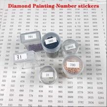 Boîte de rangement pour peinture diamant et outils de broderie 5D, autocollants de numéros, 546 compartiments, taille A4, pour ranger les accessoires de broderie