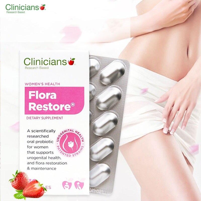 Clinicians Flora Restore Women Health supplement Probiotic Capsule Urogenital Vaginal Urinary Tract Health Healthy Flora Balance