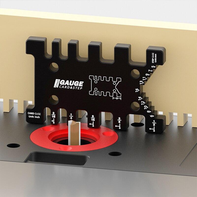 Medidor de tenón métrico de alta precisión/pulgada para fresadora de Sierra de mesa, cabezal cortador, regla de medición de altura, herramientas para carpintería