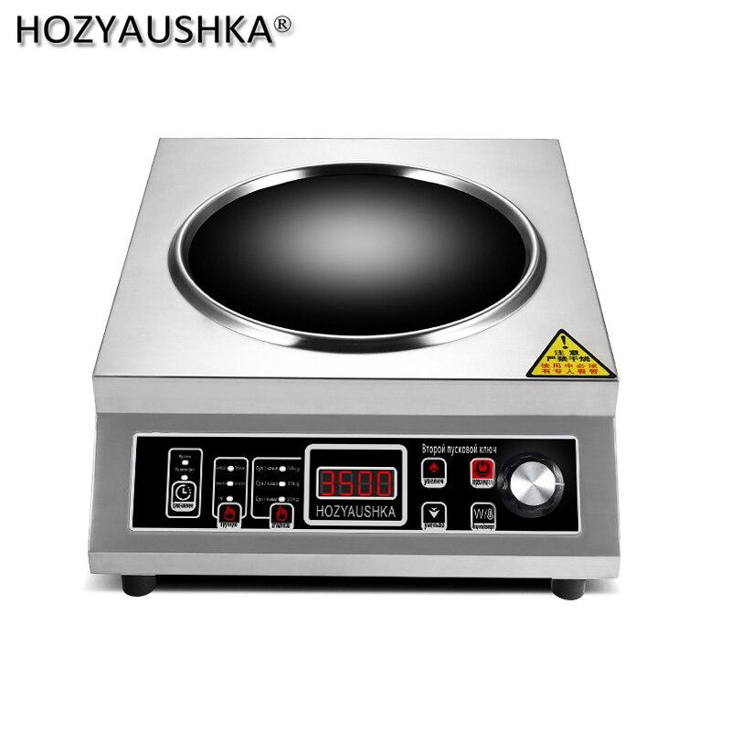 Индукционная плита высокой мощности 3500 Вт, бытовая из нержавеющей стали с аккумулятором, коммерческая индукционная плита для кухни | Бытовая техника | АлиЭкспресс